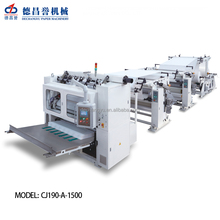 CJ190-A-1500 factory production line v folding automatic kleenex tissue paper facial tissue box making machine