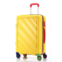 Pop up Hard Trolley Case PP luggage set / 20/24/28 inch 3 pcs trolley luggage set from JIAXING