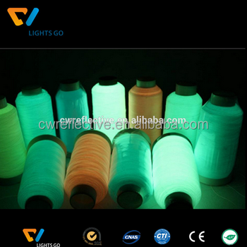 photoluminescent glowing in the dark polyester filament thread and yarn Luminous colored silk / thread