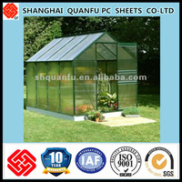 10-year warranty polycarbonate sheet greenhouse roofing material/industrial greenhouse/prefabricated greenhouse