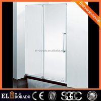 Newest mordern Chinese market design free standing shower walk in slidign glass enclosures