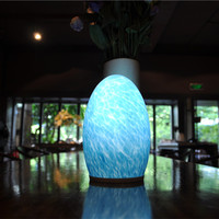 Wireless table torch lamps replacement adjustable decorative modern stained glass lamp for home