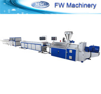 PVC/PP/PE plastic single wall corrugated pipe production line