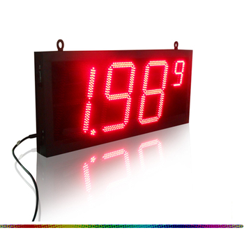 Red 20 inch LED led gas station price sign