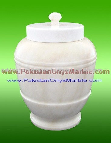 Marble Urns, Super White Marble Urns