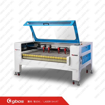 Fabric laser cutting machine with 4 laser heads