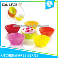 FDA silicone made reusable silicone cupcake baking supplies