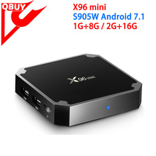 2017 cheapest Android 7.1 Smart TV Box X96 Mini with amlogic S905W 1GB RAM 8GB ROM KODI 17.4 WIFI support OEM/Private label