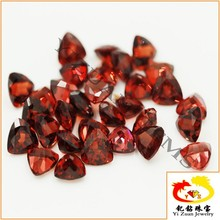 Trillion Cut Crystal Natural Loose Gemstone Beads Garnet