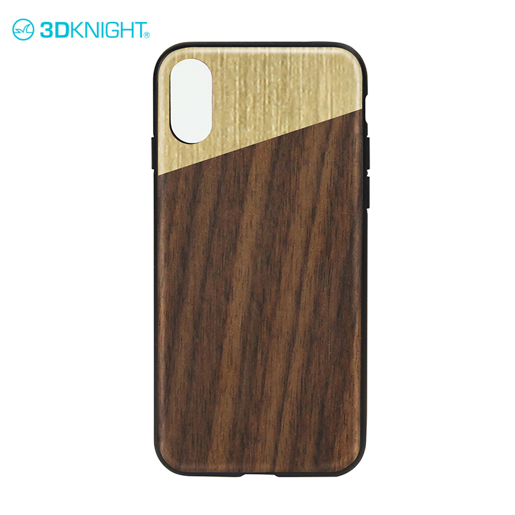 Real walnut wood + PC custom for iphone X case cover
