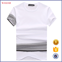 2016 Chinese OEM custom color combination t-shirt new style Short Sleeves Fashion Clothes for man