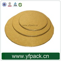 Various Size Circle Gold Thick Paper Cake Board Cake Pad