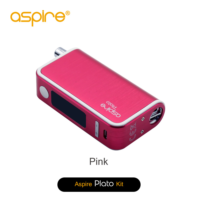 Good quality ecig mods 2016 aspire plato kit 50W TC mod with stainless steel and delrin drip tips