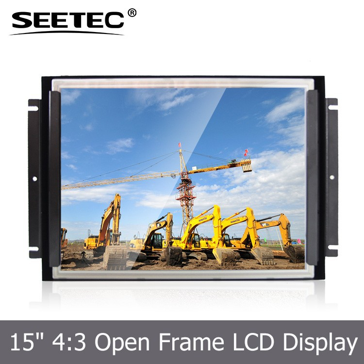 15 inch touch screen panel tft monitor HDMI input 350cd/m2 brightness open frame