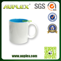 11oz top grade inner colourful square handle mug