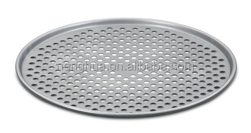 Chef's Classic Stainless Steel Bakeware 14-Inch Pizza Pan Round