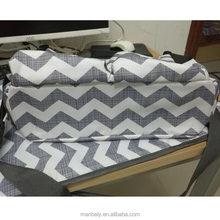 Multi-function chevron mummy bag large-capacity stroller organizor bag mother travel bag with urine pad