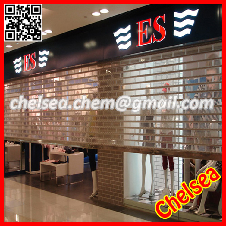 Electric remote plastic commercial transparent interior shutters