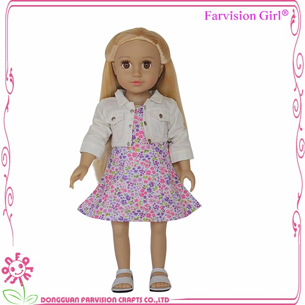 Little queen Vinyl girl dolls 18 inch Hot farvision girl dolls