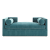 PFS17638 Hotel Living Room New classic Wooden vintage green princess velvet Fabric Sofa Set