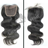 Luxefame high quality cheap unprocessed 100% virgin brazilian/ peruvian hair silk base cheap lace closure bleached knots