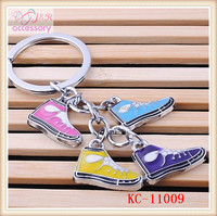 Fashion lovely skateboard shoes shaped alloy key chain ,key chain with sports shoes