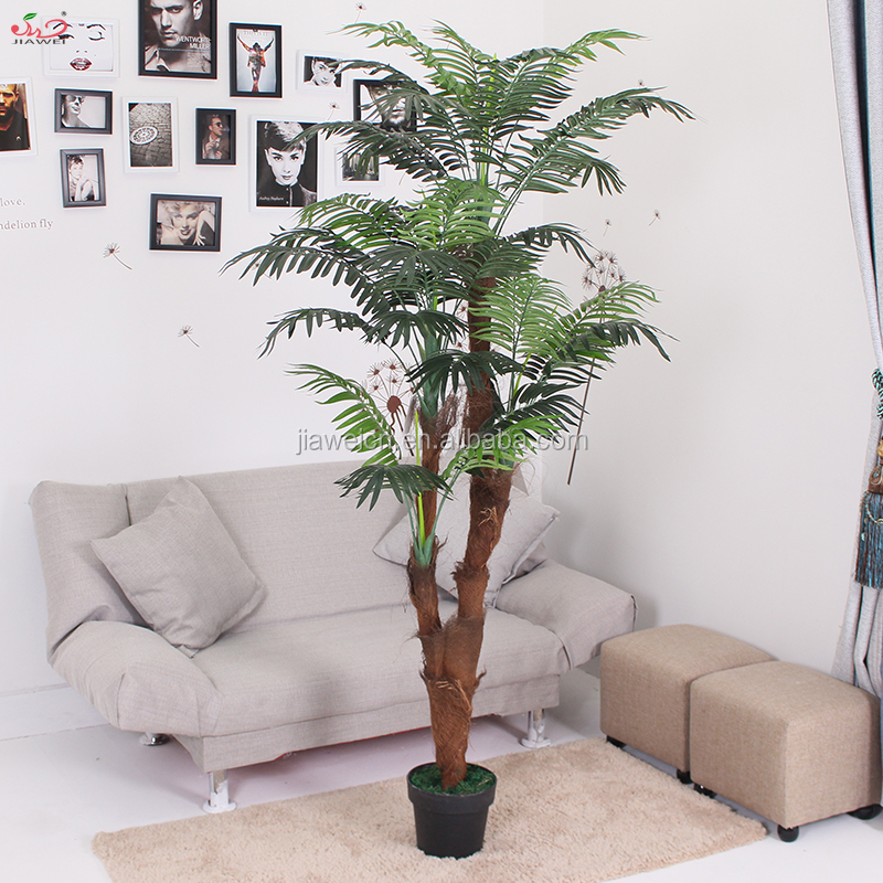 Factory new design hot sale fake palm tree wholesale artificial indoor decoration plant