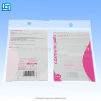 custom clear cosmetic recyclable transparent heat seal side gusset make up plastic zipper bag