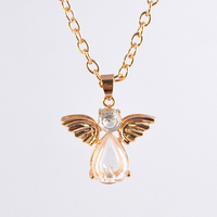 MUB European and American fashion popular hot sale gold angel perfume bottle pednat necklace
