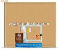 China supplier wood style framed cork board