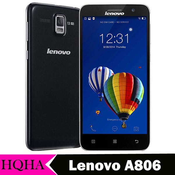 "Original Lenovo A806 A8 Golden Warrior 4G FDD LTE 5"" Android 4.4 MTK6592 Octa Core Mobile Phone"
