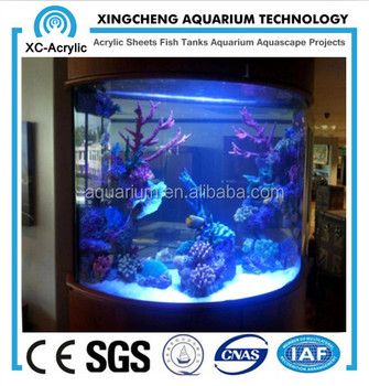 high quality and clear fish tank custom-made large acrylic fish tank for modern large acrylic aquarium