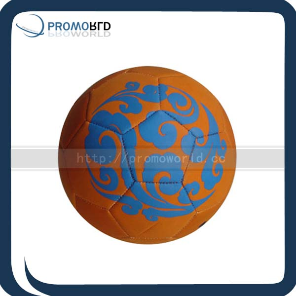 leather football promotional synthetic rubber soccer ball