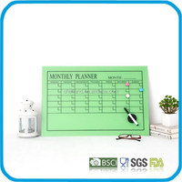 erasable magnetic tempere glass writing board /memo boad/drawing board