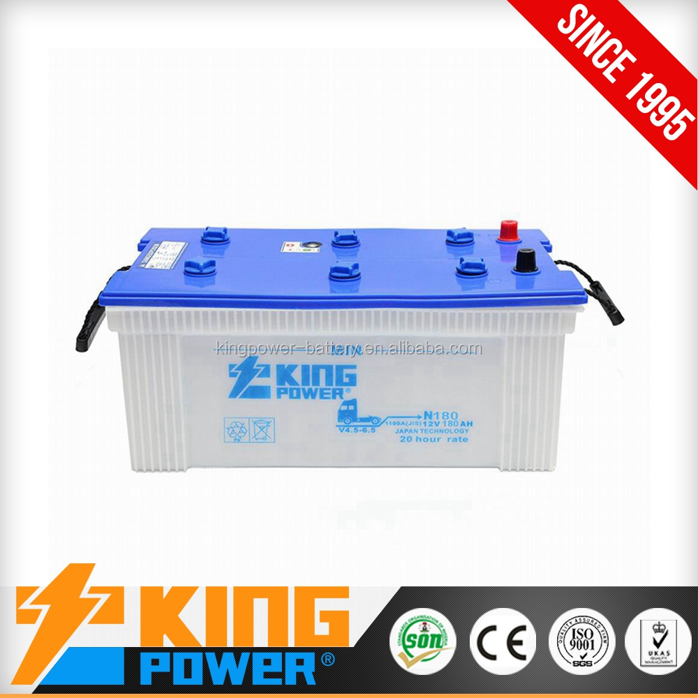 12v dry car battery 180ah n180