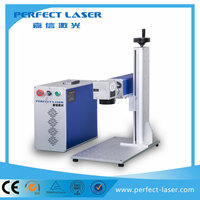 Perfect Laser-perfect 30w laser steel plates fiber belt buckles laser marking machine