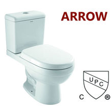 north american style two piece cupc approved siphonic toilets