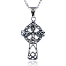 Show Your Noble Stainless steel Cross pendant In Scotland Celtic Cross Charm Pendant
