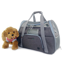 Soft Sided Large Cat / Dog Comfort Black Travel Bag Airline Approved pet carrier