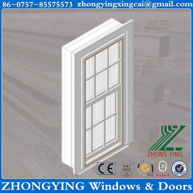 Single hung 8mm tempered glass roof sliding windows