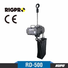Taiwan made RigPro CE certified D8+ 500kg 3 phase direct control electric chain hoist