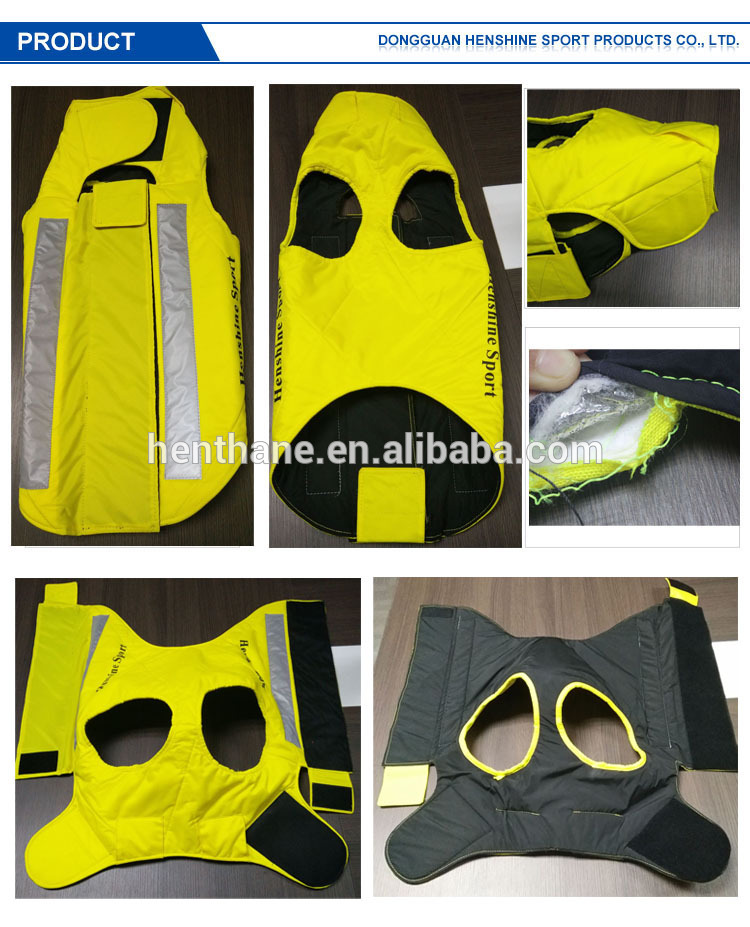 fluo color safe in night pet dog vest with UHMWPE material