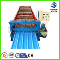 Botou 1100 glazed steel tile cold roll forming machine