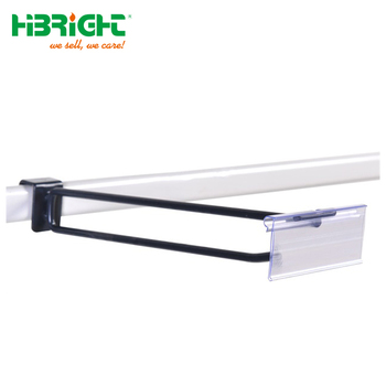 Display hanging single prong square bar hook for hypermarket