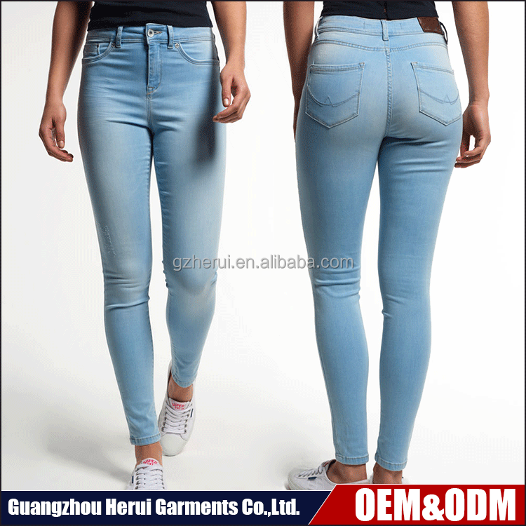 Custom Ladies High Waist Denim Jeans Pants Pent Wholeslae China Skinny Leggings Jeans Trousers For Women