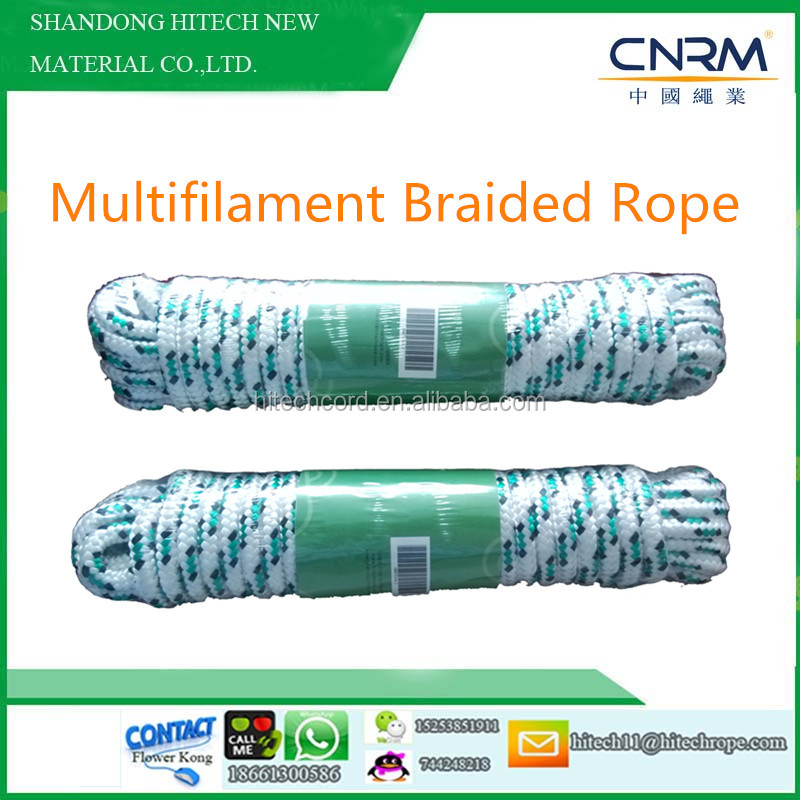 PP Multifilament 32 strand Braided Rope/paracord/Diamond Braided Rope