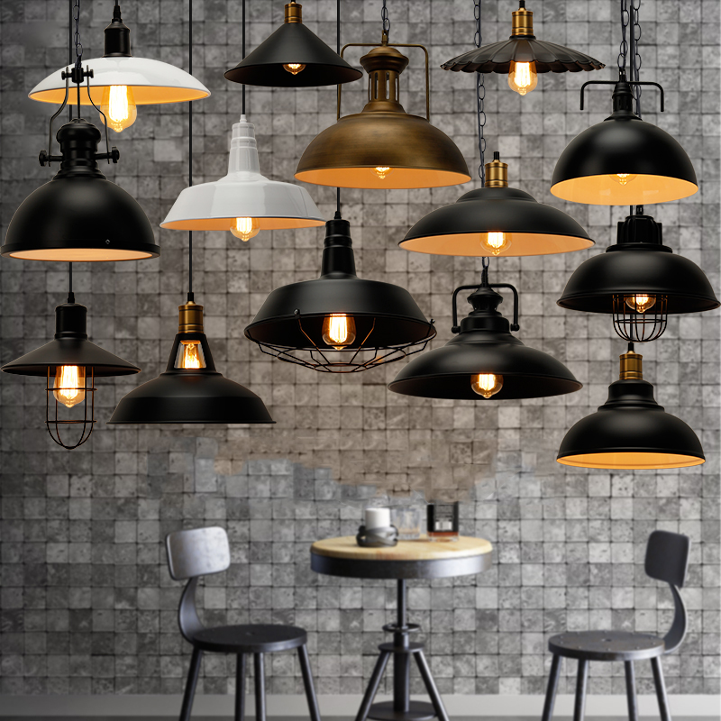 Industrial Retro Metal Loft Iron Chandelier Industry Hanging Fixture Single head Pendent Cage Edison Home Vintage Pendant Light