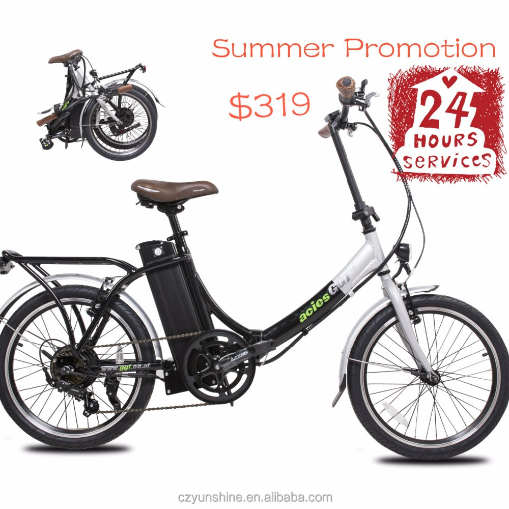 Standing up electric folding hub bike bicycle
