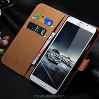 Colorful Genuine Leather Case Flip Cover for Samsung Galaxy Note 3 N9000 Note 2 N7100 Card Slot Stand Design RCD02684