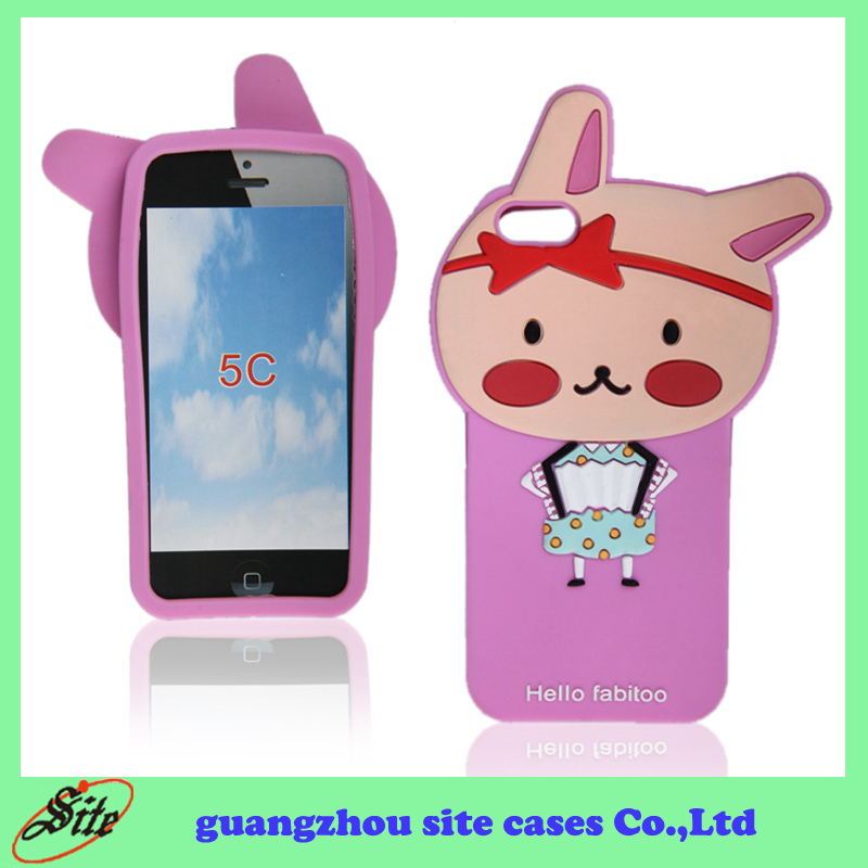 ODM&OEM Custom Design Silicon Phone case for iphone 5c